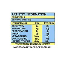 Artistic Information Chart Photographic Print
