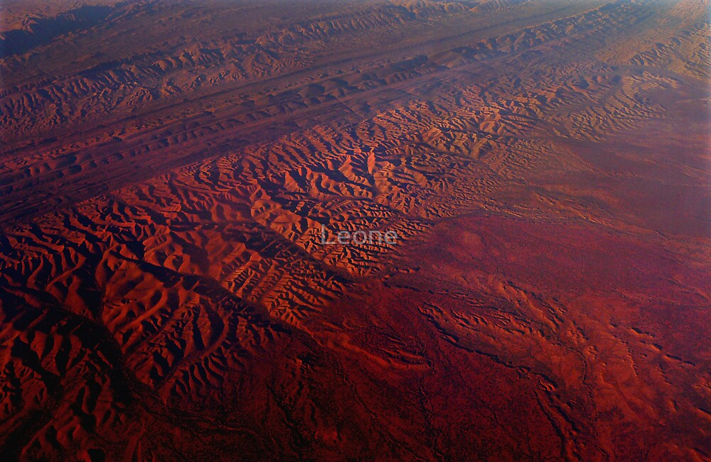 Crossing Central Australia - no frame by Leone Fabre