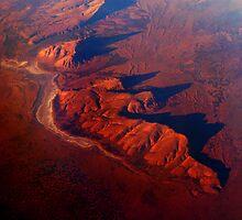 crossing central Australia - no frame by Leone Fabre