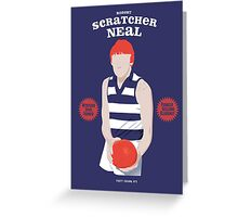 "Robert ""Scratcher"" Neal, Geelong Greeting Card"