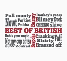 English slang on the St George's Cross flag One Piece - Short Sleeve