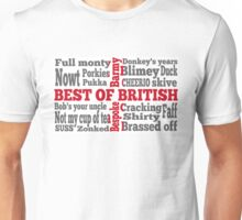 English slang on the St George's Cross flag Unisex T-Shirt