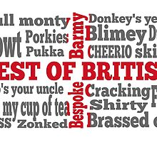 English slang on the St George's Cross flag by piedaydesigns