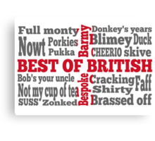 English slang on the St George's Cross flag Canvas Print