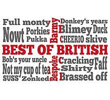 English slang on the St George's Cross flag Photographic Print