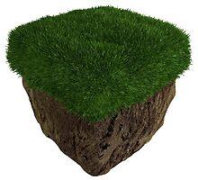 3D Grass Block by Dyspnia