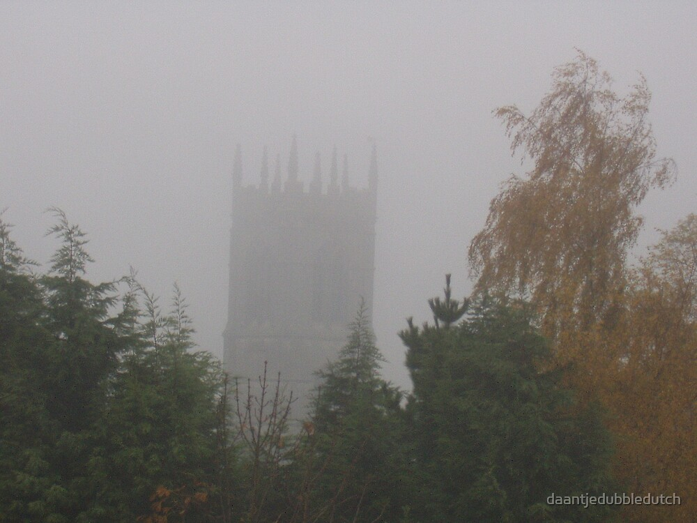 misty church of great ponton by daantjedubbledutch