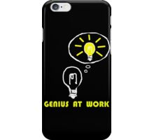 Genius at work iPhone Case/Skin