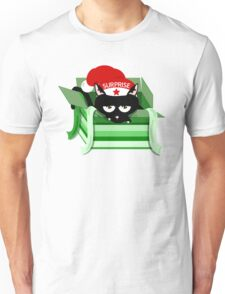 Naughty Cat Christmas Surprise Unisex T-Shirt