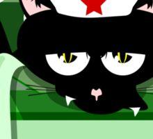 Naughty Cat Christmas Surprise Sticker