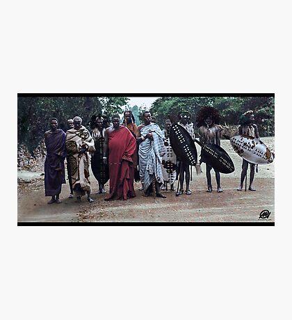 Angoni Warriors At King George Vs Coronation Celebrations, Zomba, 1911. Photographic Print