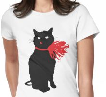 Bad Luck Bad Cat Womens Fitted T-Shirt