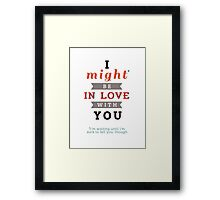 """Divergent: """"I might be in love with you."""" Framed Print"""