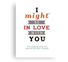 "Divergent: ""I might be in love with you."" Canvas Print"