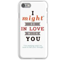 """Divergent: """"I might be in love with you."""" iPhone Case/Skin"""
