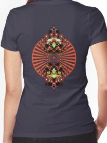 PSYCHEDELIC SHINE Women's Fitted V-Neck T-Shirt