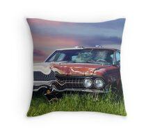 Time Warp Car Throw Pillow