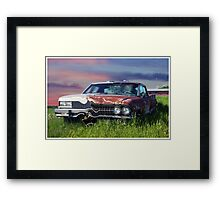Time Warp Car Framed Print