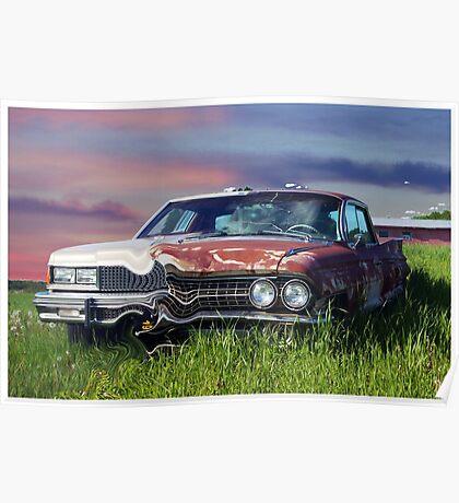 Time Warp Car Poster