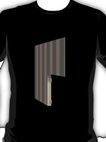 Glitch Homes Wallpaper brown stripes right divide T-Shirt