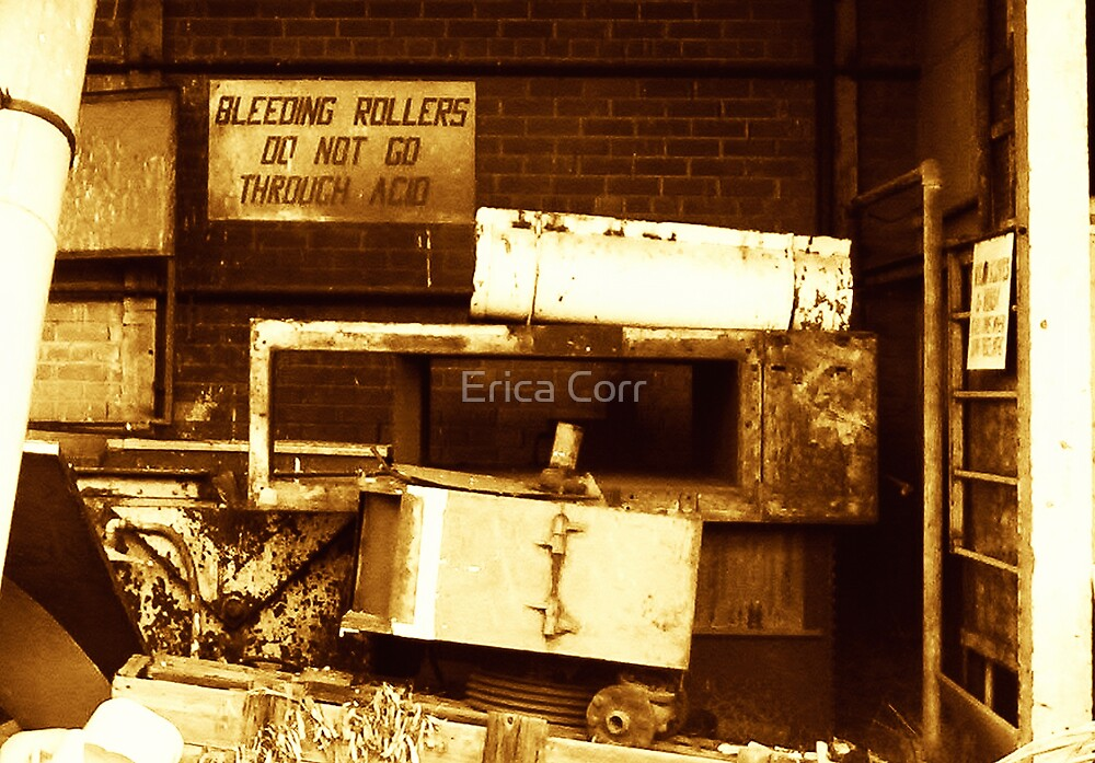 Bleeding Rollers Do Not Go Through Acid by Erica Corr