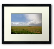 Storm on the Prairies Framed Print