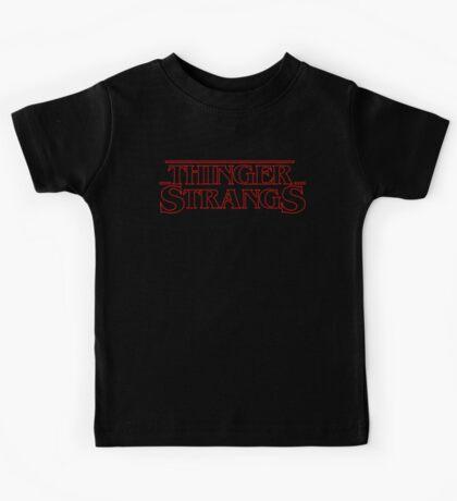 Thinger Strangs [Black] Kids Tee