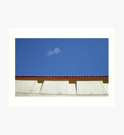 The Roof and the Cloud Art Print