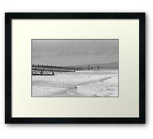 Teenagers on the Beach Framed Print