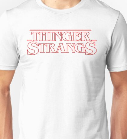 Thinger Strangs [White] Unisex T-Shirt