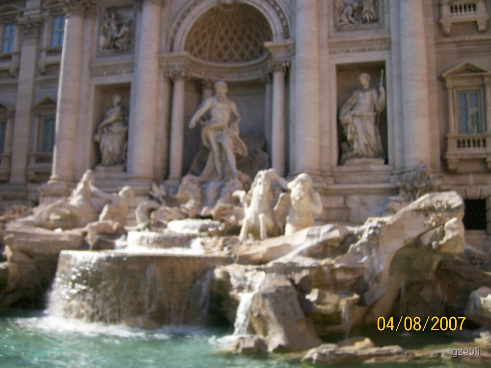 Trevi Fountain by gzeuli