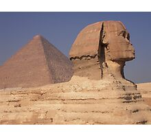 Pyramid and Sphinx Photographic Print
