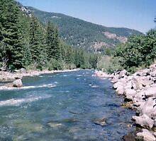 river by Esmeralda @->-------