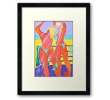 Beach Shower  Framed Print