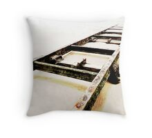 Forgotten Tracks Throw Pillow