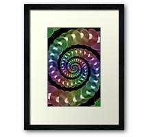 Vinyl LP Record Vortex - Metallic Rainbow Spiral Framed Print