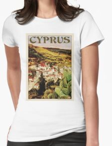 Travel Poster 01 - Lapithos, Cyprus Womens Fitted T-Shirt