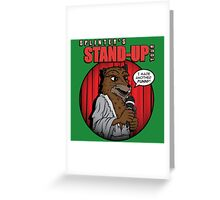 Splinter's Stand-Up Tour Greeting Card