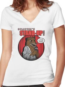 Splinter's Stand-Up Tour Women's Fitted V-Neck T-Shirt