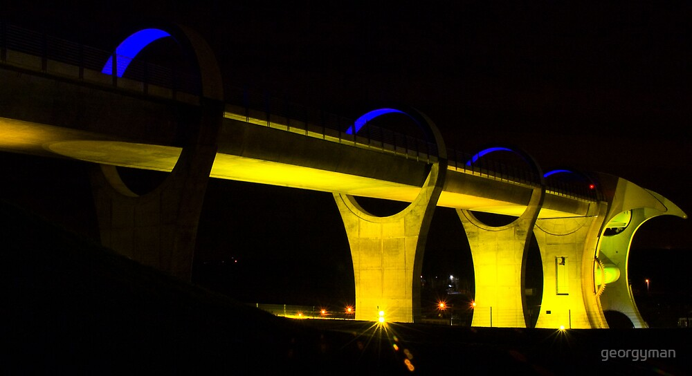 The Falkirk Wheel at night 2 by georgyman