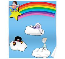 Steven in the Sky with Gems Poster