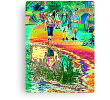 """#186  """"Puddled At The Vibes""""  Gathering Of The Vibes Poster  '07 Canvas Print"""