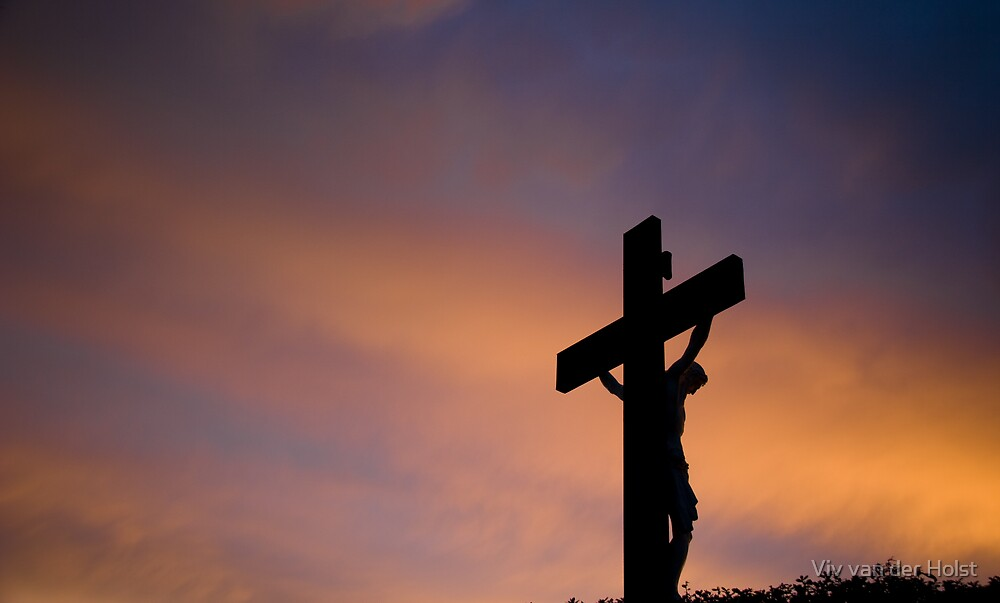 Christ at sunset by Viv van der Holst