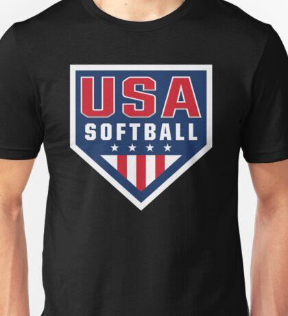 Vintage Team USA Softball Logo Unisex T-Shirt