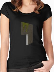 Glitch Homes Wallpaper cave left divide Women's Fitted Scoop T-Shirt