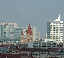Vienna Skyline by veda