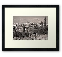 Athenian Acropolis from Philopappou Hill, 1960, Sepia Framed Print