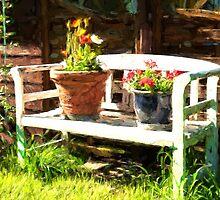 Garden bench by Ron Zmiri
