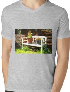 Garden bench Mens V-Neck T-Shirt
