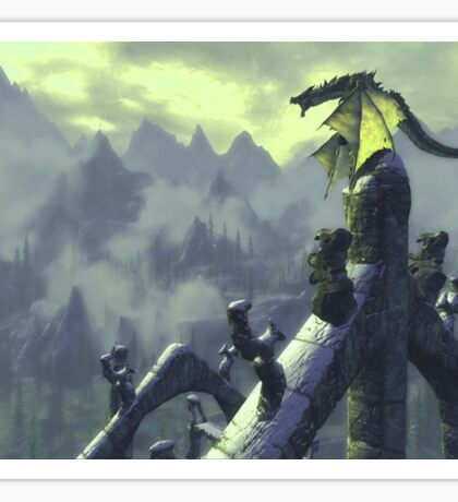 Skyrim- Dragon Attack Sticker